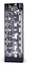 Martha Boto, Optique Hélicoidal (Mouvement), 1967. Plexiglas, aluminum, plywood, light bulbs, motor, 86 5/8 in. x 25 1/2 in. x 15 3/4 in.