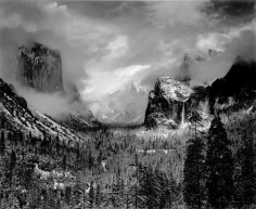 Ansel Adams, 	Clearing Winter Storm. 1944