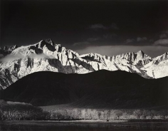 Ansel Adams, 	Sierra Nevada from Lone Pine. 1944