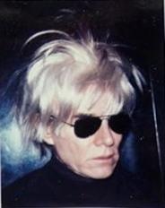 Andy Warhol. Self-portrait in fright wig.