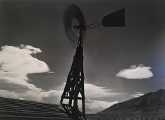 Ansel Adams, 	Windmill Spinning. Owens Valley Near Independence, California. 1935