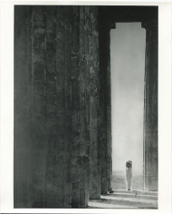 Edward Steichen. Isadora Duncan at the Columns of the Parthenon, Athens. 1921.