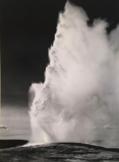 Ansel Adams., 	Old Faithful Geyser, Late Evening. Yellowstone National Park, Wyoming. 1942