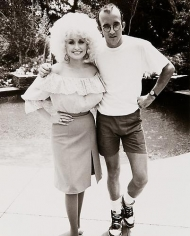 Keith Haring and Dolly Parton, 1985.