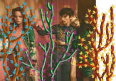 Untitled (Mia Gruenwald, Polina Organicheva & Arnis Cielava by Glen Luchford for Gucci), 2016, Acrylic on Magazine Page