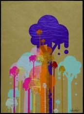 Ryan McGinness. Untitled (Ice-Cream Trees).  2007.