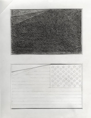 Two Flags, Rudolph Burckhardt, 8x10 Silver Gelatin Print