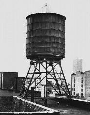 Bernd & Hilda Becher. Water Tower: Broome St. / Mercer St. 1978. Gelatin silver print. 23 x 19 3/4 inches.