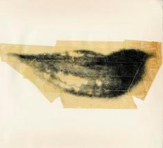 Lips, c. 1975, Unique Screenprint and Tape Collage