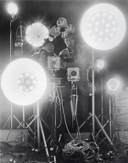 Link & George Thom with Flash Equipment Ignited, NYC, 1956