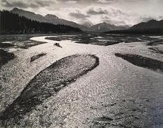 Ansel Adams, 	Teklanika River, Mount McKinley National Park, Alaska. 1947