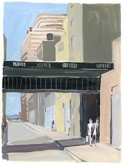 Jean-Philippe Delhomme. Chelsea in the Summer.  2010.  Gouache on paper.  15 x 11 inches.