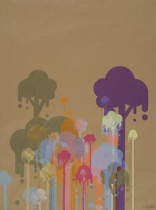 Ryan McGinness, Untitled 5 (Ice Cream Trees), 2007, 50 x 39 in.