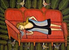 Morris Hirshfield Girl with Pigeons, 1942