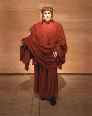 Dante, 2000 wax, linen, found shoes