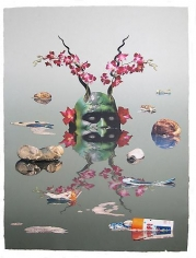ASHLEY BICKERTON Green Reflecting Head Version No. 1, 2006