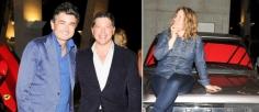 Left: CEO of Ferrari North America Marco Mattiacci and dealer Adam Lindemann. Right: Artist Virginia Overton. (Photos: Billy Farrell)