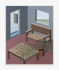 Painting by Emily Ludwig Shaffer, titled When Home, from 2021