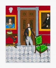 Painting by Andrew LaMar Hopkins titled Gabriel Aime at Le Petit Versailles, n.d.
