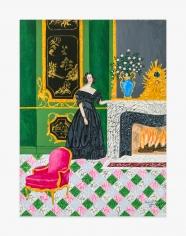 Painting by Andrew LaMar Hopkins by The Baroness Micaela Almonester de Pontalba in the Hôtel de Pontalba