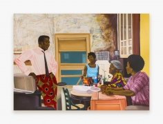 Painting by Cornelius Annor, titled Abusua Nhyiamu, from 2021