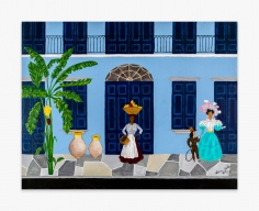 Painting by Andrew LaMar Hopkins called Old Creole Days