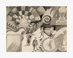 Work on paper by Joanna Beall Westermann titled Riverview form 1960