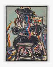 Painting by Maryan titled The Seated Painter (After Vermeer) from 1966