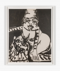 Work on paper by Maryan titled Personnage VI from 1963