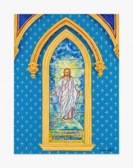 Painting by Andrew LaMar Hopkins titled Tiffany Christ