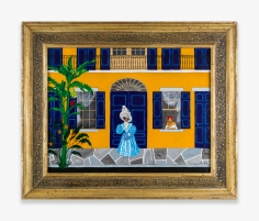 Painting by Andrew LaMar Hopkins titled Madame de Boisblanc Lodger
