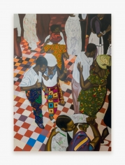 Painting by Cornelius Annor, titled A Night with Osibisa, from 2021