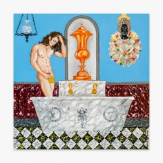 Painting by Andrew LaMar Hopkins titled Neptune's Bathroom