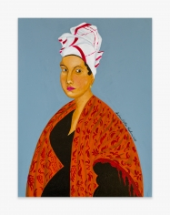 Painting by Andrew LaMar Hopkins titled New Orleans Voodoo Queen Marie Laveau