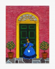 Painting by Andrew LaMar Hopkins titled Creole Elegance