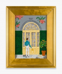 Painting by Andrew LaMar Hopkins titled Creole House Call