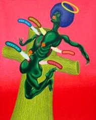 Peter Saul,Crucifixion of Angela Davis, 1973., COURTESY THE ARTIST AND VENUS OVER MANHATTAN