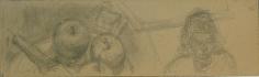 Alberto Giacometti Assiette de pommes et buste de femme