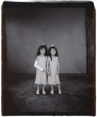 Cydney and Alexandrea Boyington (from the Twins series), 2001, 	Unique polaroid