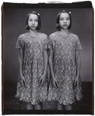 Marie-Michele and Caroline Abrosia (from the Twins series), 2001, 	Unique polaroid