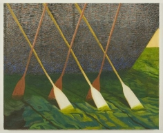 painting of oars in the water by jesse chapman