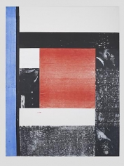 Structure I (The Guardian, Wednesday, July 6, 2011), 2011, Acrylic and screenprint on canvas
