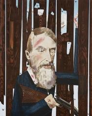 Raider I (John Brown), 2008, Acrylic on honey comb panel