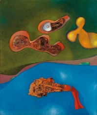 Max Ernst, A Maiden, a Widow and a Wife, 1966 Oil on canvas 92 x 76 cm. (36 1/4 x 30 in.) ©Helly Nahmad Gallery NY