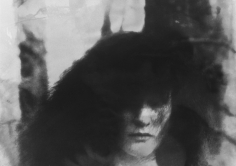 Deborah Turbeville, Women in the Woods V, Clothing by Blumarine, VOGUE Italia, Montova, Italy, 1977 (Face Close-Up)