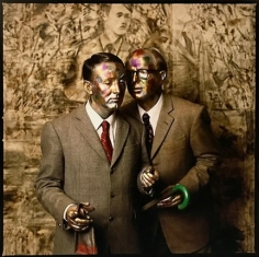 Abe Frajndlich, Gilbert and George, New York City, October 1991