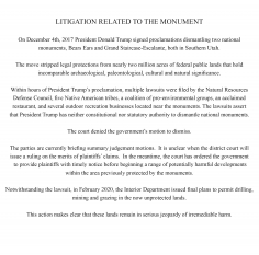 , Litigation Related to the Monument