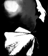 Lillian Bassman Basque Slip, model unknown, all-in-one by Peter Pan, 1955