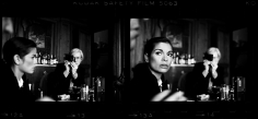 Harry Benson, Andy Warhol and Bianca Jagger at The Factory, New York, 1977