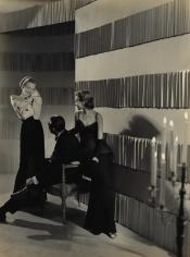 George Hoyningen-Huene, Fashion Sitting, Evening Dresses, Harper's Bazaar, 1940's, Vintage Print